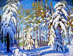 Lawren Harris. (1885-1970). Winter in the Northern Woods,  c.1915-1918 Group of Seven