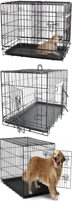 Cages and Crates 121851: Extra Large Dog Crate Kennel Xxl Huge Folding Pet Wire Cage Giant Breed Size -> BUY IT NOW ONLY: $59.99 on eBay!