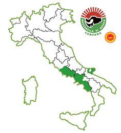 #Mozzarella di Bufala Campana AOP. Zone de production