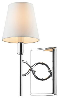 Golden Lighting 9106-1W CH-OPL 1 Light Wall Sconce w/ Opal Shade transitional-wall-sconces