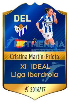 La delantera del Sporting Huelva, Martin-Prieto, ha sido una de las nominadas por la Liga Iberdrola al XI Ideal en la temporada 2016-17