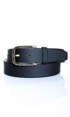 Tru Trussardi | Cintura In Vitello Tru Trussardi Uomo Col. Nero - Shop Online su Dursoboutique.com 52C015J303
