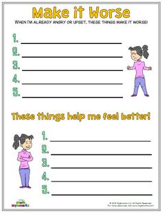 Therapeutic worksheets focused on helping kids and teens explore feelings of anger. Tools assist kids with identifying anger triggers and healthy anger management techniques. Elementary School Counseling, School Social Work, School Counselor, Elementary Schools, Kindergarten Graduation, Social Skills Activities, Counseling Activities, Anger Management Activities, Social Work Worksheets
