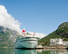 The Classical Fred Olsen Black Watch Ship pictured in Eidfjord Norway. More information on this ship can be found here http://about2crui.se/the-Black-Watch  #fredolsen #Eidfjord #Norway #Cruising