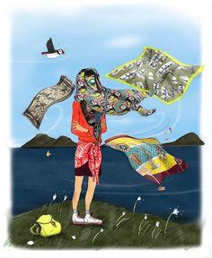 Charlotte Linton: Ermantrude's Travels, Ermantrude and Scotland collection scarves