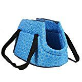 SODIAL(R) Bolsa de mano de hombro de transporte de viaje para pequenas mascotas pequeno gato pequeno perro acolchada y suave plegable y lavable, Azul