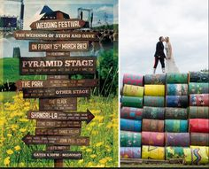 Glastonbury Festival Wedding Inspiration - via Bride Wedding Themes, Wedding Blog, Wedding Venues, Wedding Ideas, We Are Festival, Enjoy The Sunshine, Festival Wedding, Festival Posters, Getting Married