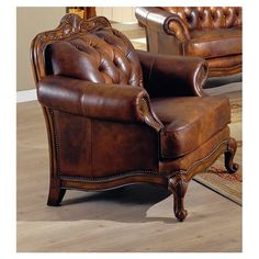 Victoria Rolled Arm Chair Tri-tone and Warm Brown - Coaster Fine Furniture Brown Leather Chairs, Leather Sofa Set, Leather Club Chairs, Leather Furniture, Tan Leather, Classic Leather, Leather Armchairs, Vintage Leather, Sofas