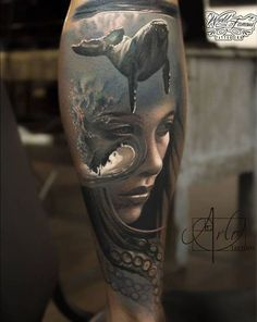 Face morph tattoos can make true custom ink for people wanting something poetic, original and superb and Arlo DiCristina masters this style.