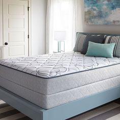 Sealy Villa Hills Plush Mattress Set, White