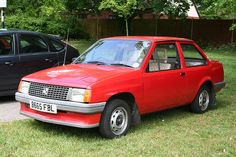 Vauxhall Nova Saloon - Mine was white and rattled like a rattly thing!