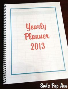 2013 Yearly Planner Download