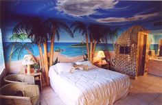 Themed Hotel Rooms - Blue Hawaii