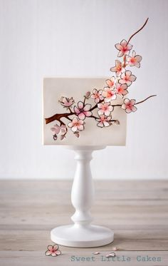 Cherry blossom birth cake by Sweet Little Cakes