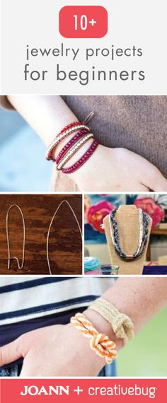 Who knew it could be so easy to make your own accessories? Thanks to these 10+ Jewelry Projects for Beginners from Jo-Ann and Creativebug, you can rock handmade bracelets, necklaces and rings all summer long.
