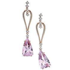 Brinco em ouro rosê com diamantes e ametista da coleção Reflexos!! #diva #linda #fashion #juliookubo #ametista #ourorose #noiva #presente #diamantes