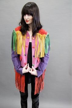 Vintage Moschino Suede Fringe Jacket by nakedcowgirl, via Flickr