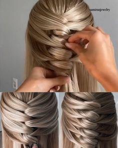 Hairdo For Long Hair, Bun Hairstyles For Long Hair, Braided Hairstyles, Braid Types, Unique Braids, Different Braids, Hair Up Styles, Hair Videos, Hair Hacks