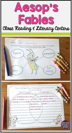 Teaching Aesop's fables in your 2nd or 3rd grade classroom? From engaging literacy centers to close reading activities, this set has everything you need!