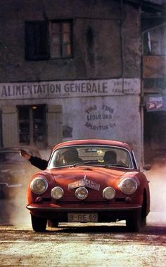 Porsche 356 in the 1964 Monte Carlo Rally #porsche