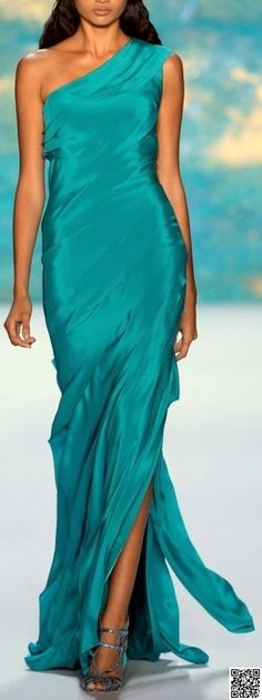 21. Off the #Shoulder - 23 Jaw Dropping #Turquoise Ball Gowns ... → #Fashion #Color
