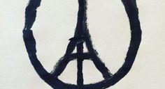 El autor del icono solidario de los atentados de París: 'El símbolo de paz y amor era necesario'
