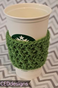 CEDdesigns: New FREE Pattern: Crochet Coffee Sleeve