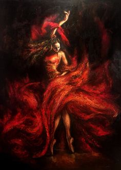 Liana Gor - Flamenco -In my dreams I fly but in reality I like to dance Art Ballet, Spanish Dancer, Spanish Art, Dance Paintings, Dance Photography, Painting Inspiration, Female Art, Amazing Art, Fantasy Art