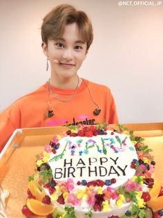 Happy Birthday to our cute Mark Lee Mark Lee, Winwin, Taeyong, Jaehyun, Happy Birthday To Us, Birthday Cake, Kpop, Nct 127 Mark, Lee Min Hyung