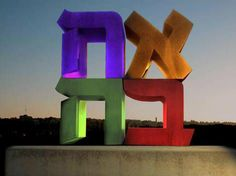 Love in the holy city: AHAVA The Hebrew love sign at the Israel Museum in Jerusalem celebrating tu b'av, the jewish day of love 22/7/13