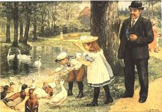 Vintage Book Art, Vintage Ads, Victorian Paintings, Cornelius, Cartoon Pics, Any Images, Vintage Children, Beautiful Birds, Illustration Art