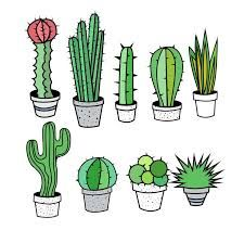 Cactus Clipart, Cactus Clip Art, Tribal Clipart, Tribal Clip Art, Succulent Clipart Clip Art - Commercial and Personal Use Cactus Drawing, Plant Drawing, Cactus Art, Cactus Flower, Flower Pots, Cactus Doodle, Clipart Cactus, Planner 2018, Cactus Stickers
