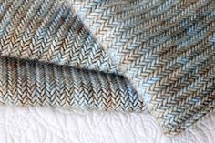 amazing herringbone knitting from owlish, ravelry..