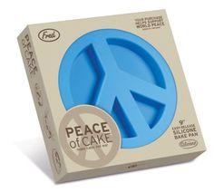 Peace sign cake pan