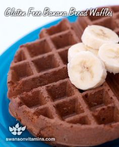 Gluten Free Banana Bread Waffles are a treat for the whole family. This gluten free recipe is great for a relaxed Sunday brunch.