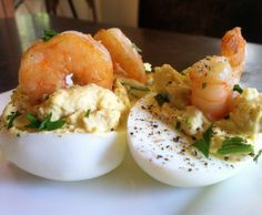 Traditional Deviled Eggs or with Shrimp or Truffle Oil or Pesto or Jalapenos or Sriracha or Harissa
