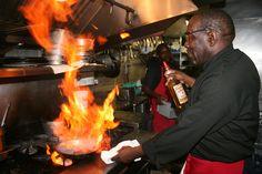 Herman making a pan fried lobster!