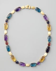 Murano Multi-Stone Necklace by Marco Bicego at Neiman Marcus.