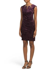 358a6db65c45 Petite Velvet Dress With Cutouts - Velvet Shop - T.J.Maxx