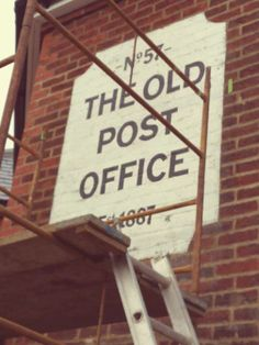 Old post office retro sign NGS http://www.nickgarrettsignwriter.com/retro/