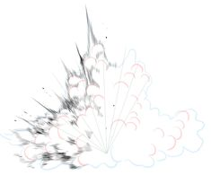 Explosion Drawing, Cherry Blossom Images, Comic Tutorial, Background Drawing, Drawing Studies, Illustration Techniques, Comic Drawing, Weapon Concept Art, Drawing Challenge