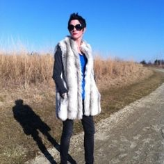 Take a vintage fur coat and turn it into a fabulous vest.