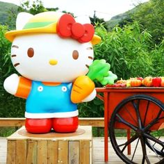 Hong Kong has more than theme parks for the youngsters! Parents travelling to Hong Kong with kids or locals who are planning a weekend getaway may consider a farm visit to this newly opened Hello Kitty Go Green Organic Farm in Yuen Long, New Territories. It's easily accessible by West Rail and it's just 3 mins walk from the Kam Sheung Road MTR Station. Let's take a break from the city and get closer to the nature~ #allabouthongkong