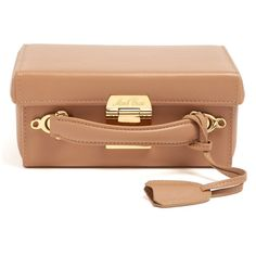 Mark Cross Grace small leather box bag (31.161.490 IDR) ❤ liked on Polyvore featuring bags, handbags, shoulder bags, nude, beige shoulder bag, leather handbags, real leather purses, beige handbags and leather purses