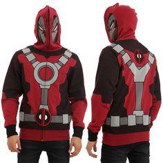 Marvel Universe Deadpool Full Zip Hoodie
