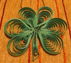 Shamrock.  Is quilling making a come back?