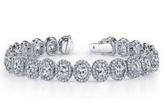 Alson Signature Collection Oval Diamond Tennis Bracelet