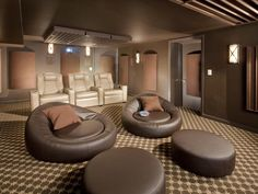 I Don T Even Need The Home Theater Just Those Round Seats For Lounging