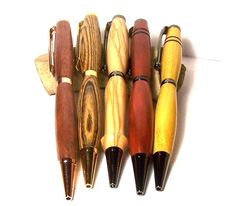 Handcrafted Custom Order Slim Wood Pen. Ballpoint Ink Pen with any wood and plating.