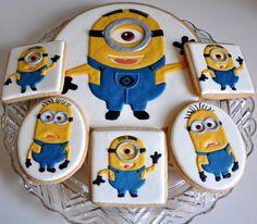 Minion Cookies by Kelley Hart Custom Cookies